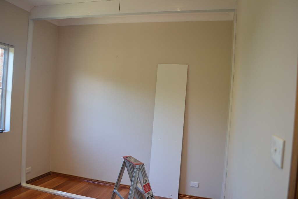Installing Built-In Wardrobe - The frame is ready