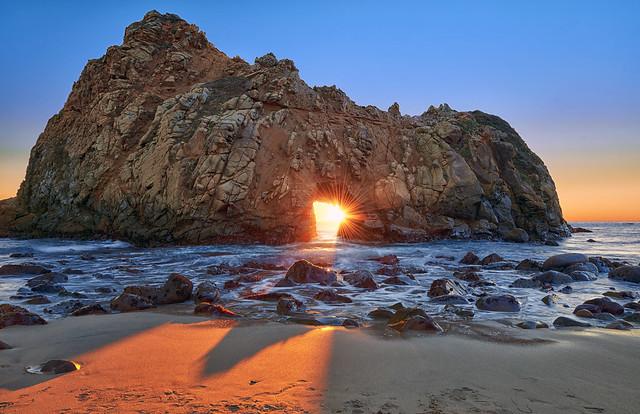 Last Rays: Pfeiffer Beach Rock