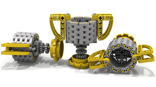 Lego Micro Trophy (3 views)