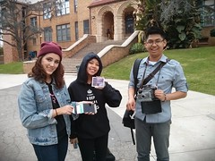 The joys of instant film photography. My student found several old packs of Polaroid pack film. I let him borrow my land camera 100 to test them out. Now he is having a blast taking instant shots all over campus.