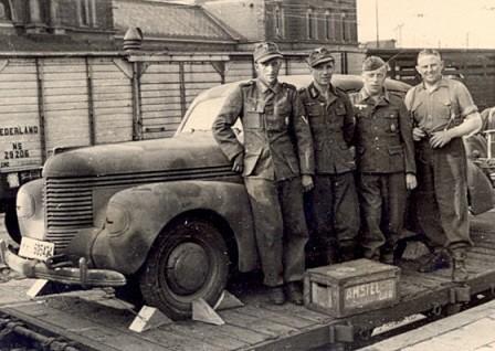 Soldados alemanes destacados en Holanda