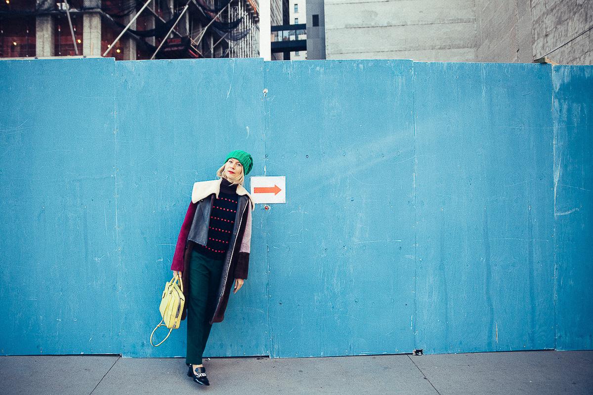Natalie Joos wearing a 3.1 Phillip Lim coat