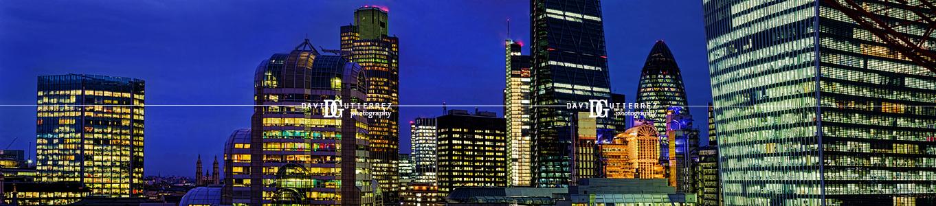 London City - Panorama - David Gutierrez Photography, London Photographer