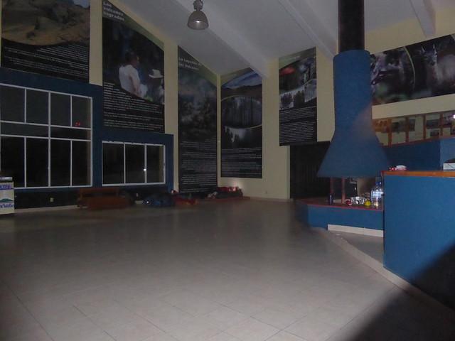 Sleeping quarters inside the visitor centre on the Paso de Cortez