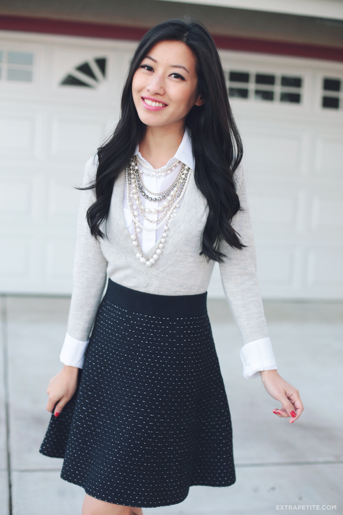 ann taylor dot sweater skirt2