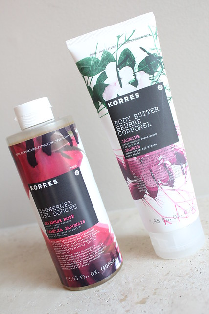 Korres Shower Gel and Body Butter review