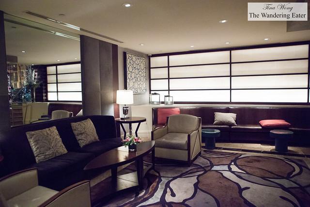 The cozy lobby