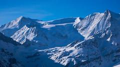 Widok z przełeczy Col des Roux 2804m na szczyt Pigne d Arola 3796m