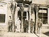 Five men with slabs of whalebone (baleen)