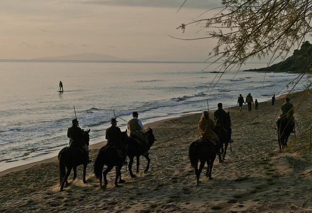 Costa maremmana con butteri - Maremma coast with cowboys (Maremma, Tuscany, Italy)