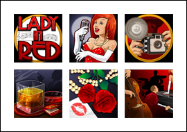 free Lady In Red slot game symbols