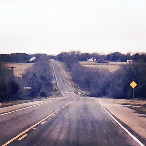On our way to Waco! You know you're in Texas if the speed limit on the interstate is 75 and the speed limit on THIS road is 70. #crazy