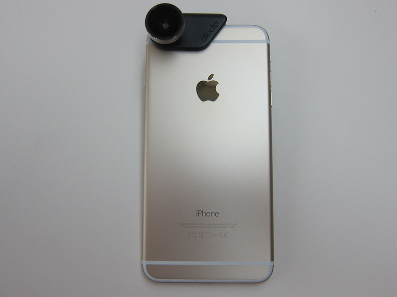 Olloclip 4-in-1 Photo Lens for iPhone 6/6 Plus - With iPhone 6 Plus Back