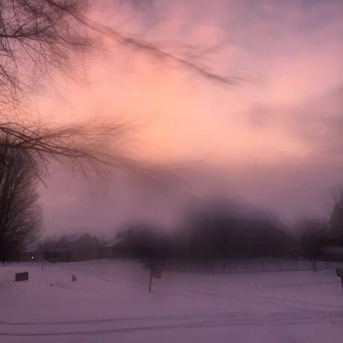 Daybreak #snowday #sunrise #nofilter
