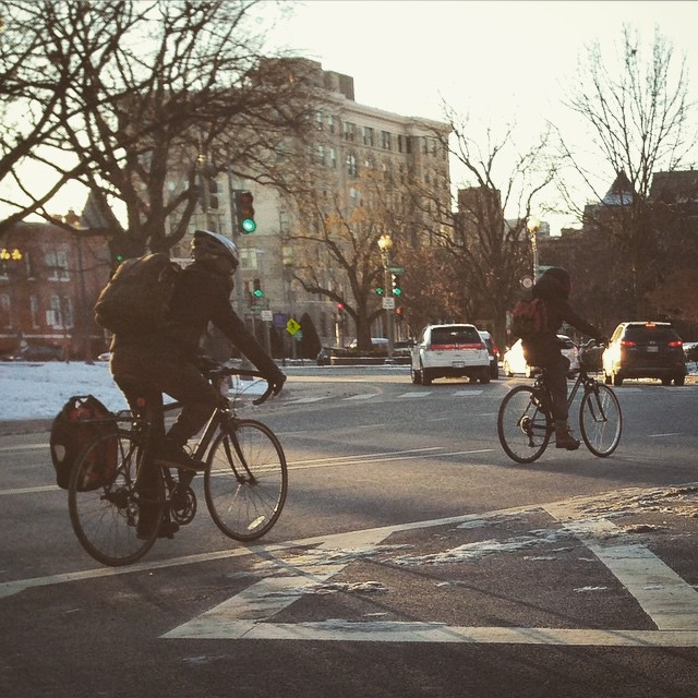 #bikedc was bundled up this morning #igdc