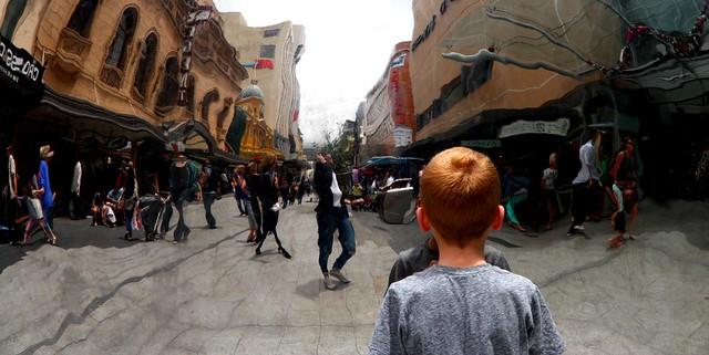 Small boy Rundle Mall Adelaide #dailyshoot # leshainesimages