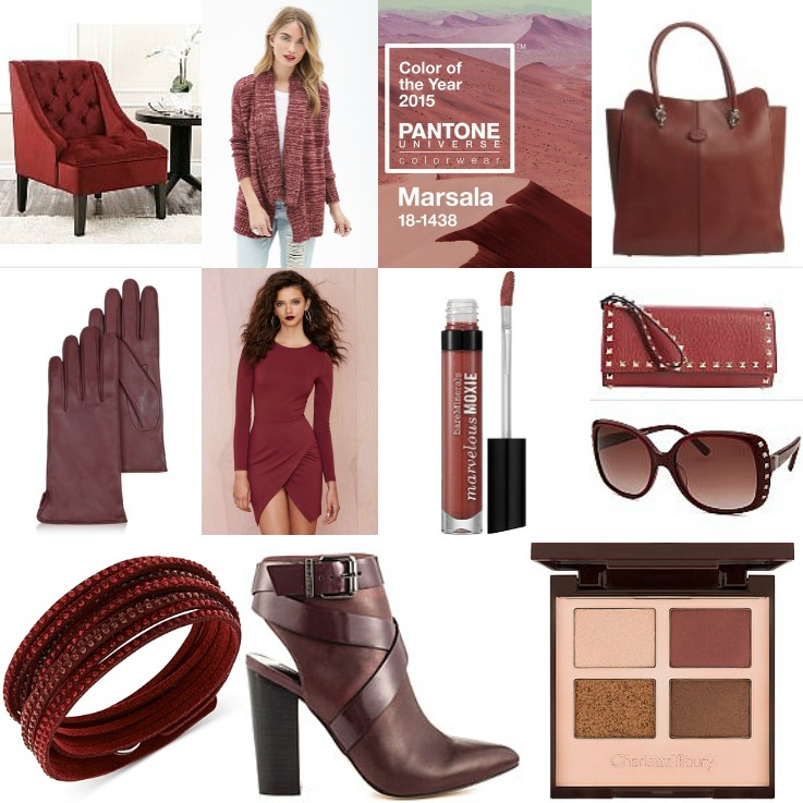 Marsala Pantone Color of the year 2015,