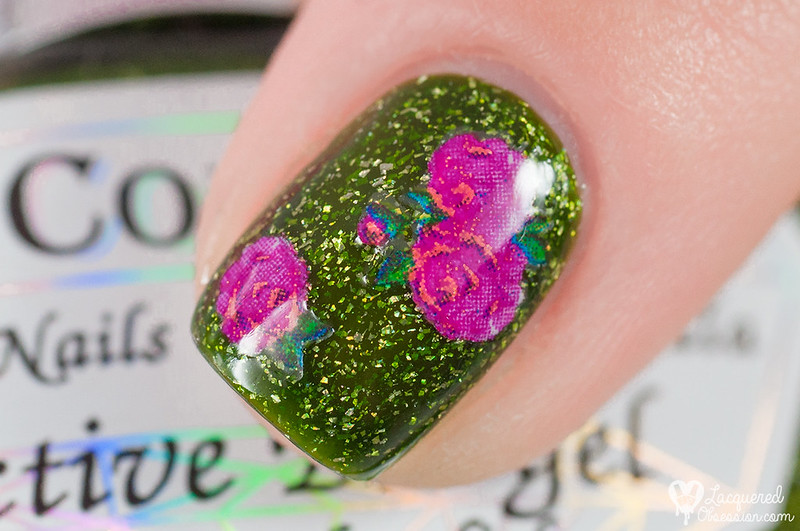 Flower water-free decals