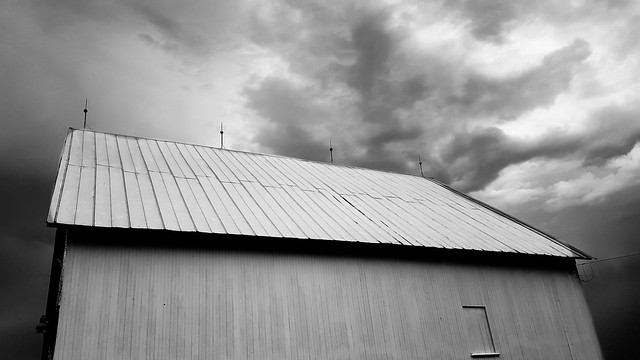 Barn and Storm (B&W)
