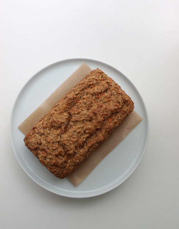 CARROT BANANA BREAD...just slightly cooled