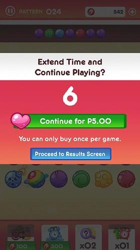 เกม Cherry Dot ถ้าจะเล่นต่อเนื่อง อาจต้องเสียเงินซื้อหัวใจมาเพื่อ Continue