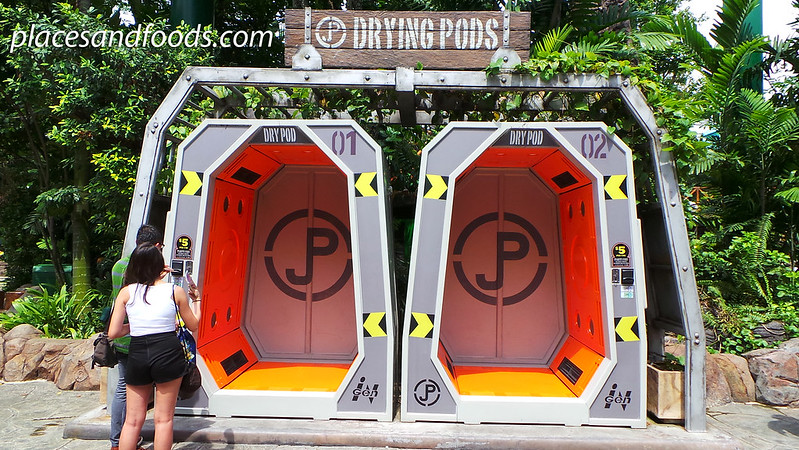 universal studio singapore jurassic park drying pods