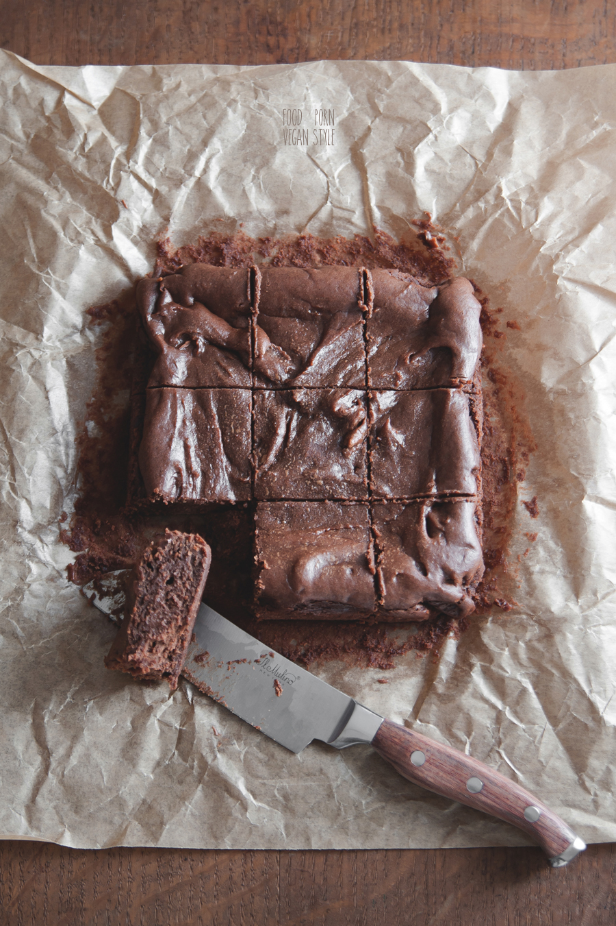 Vegan tahini brownie