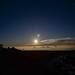 Moonset behind the Haleakala Observatories