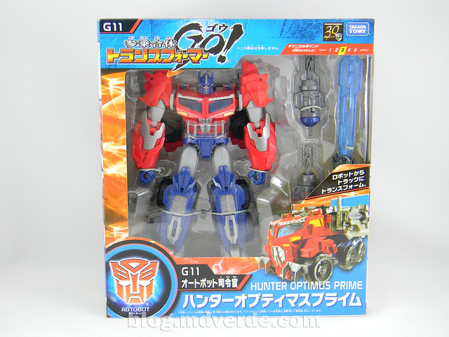 Transformers Hunter Optimus Prime Voyager - Transformers Go - caja