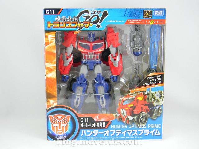 Transformers Hunter Optimus Prime Voyager - Transformers Go - caja