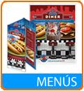 Menús, restaurantes