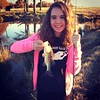 She thinks we're just fishin' :heartpulse:my little @reaganrodgers
