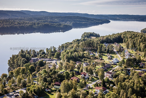 sverige swe västragötaland flygfoto skåpafors laxsjön flatebyn