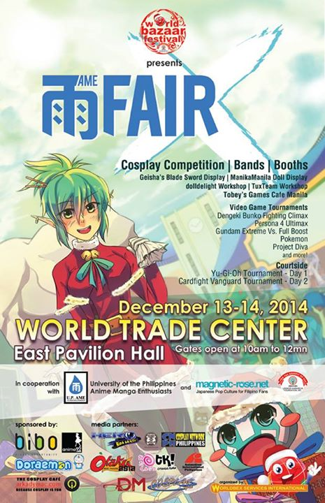 AME Fair X: The 2014 UP Anime and Manga Enthusiasts Fair