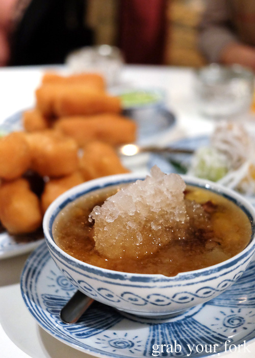 Tao tung sweet bean soup at Chat Thai, Sydney