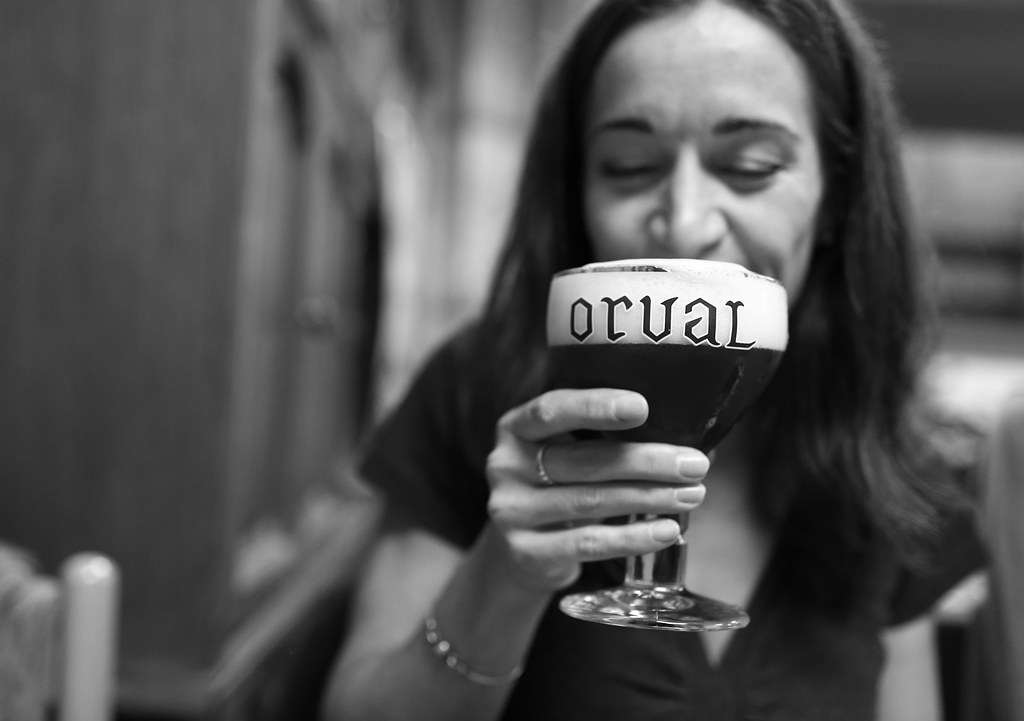 Someone who drink an Orval beer
