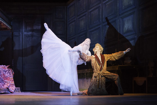 Christopher Saunders as Don Quixote and Christina Arestis as Dulcinea in Don Quixote © ROH.Johan Persson 2013