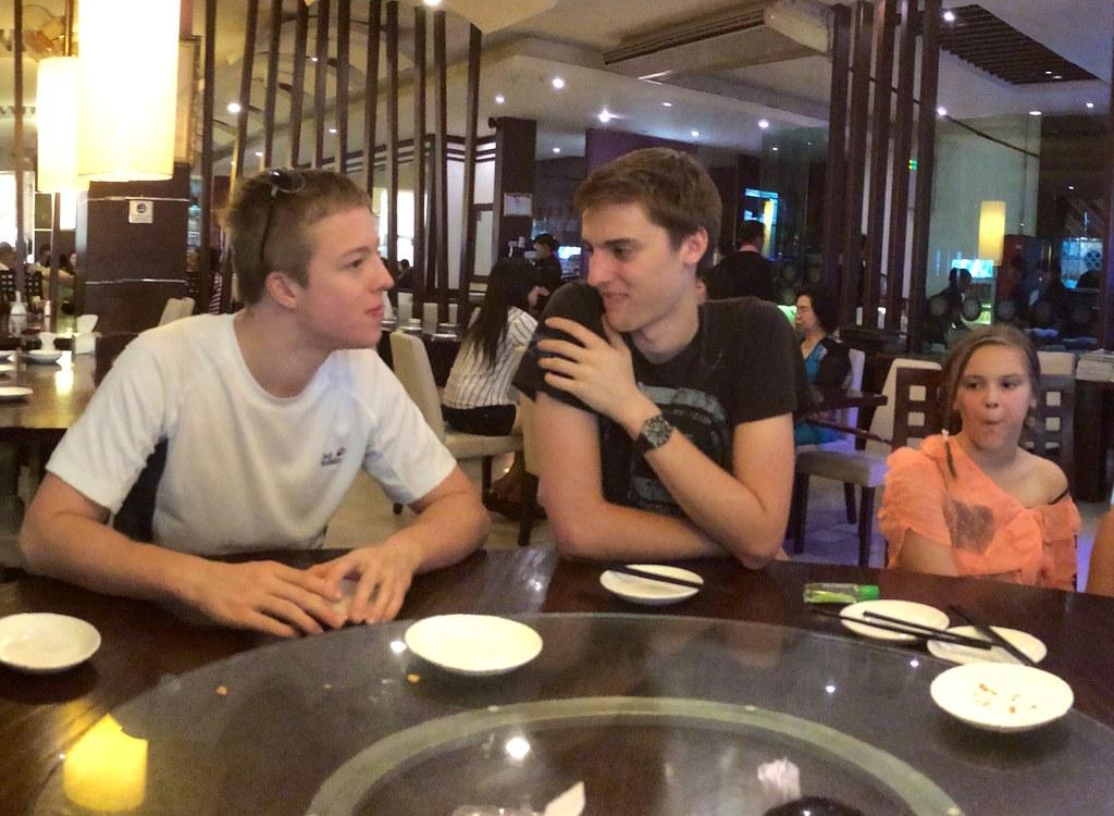 Alex, Calum and Georgie