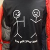 "6th grade shirt of the day: ""I've got your back."""