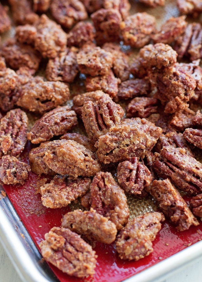 Candied Pecans - they take less than an hour to make, make the whole ...