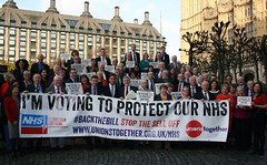 Joining Labour colleagues to support Clive Efford\'s NHS Bill