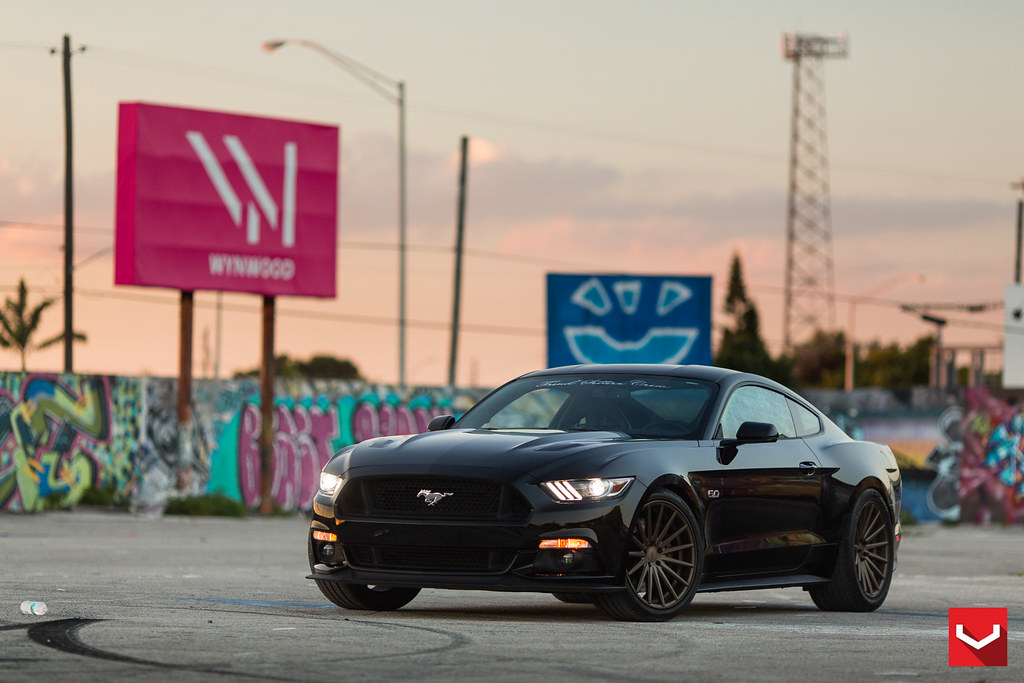 2015 ford mustang gt vossen wheels project black
