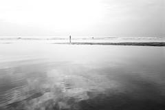 India. Cellphone on the beach..