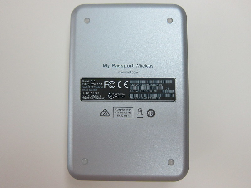 Western Digital - My Passport Wireless (2TB) - Back
