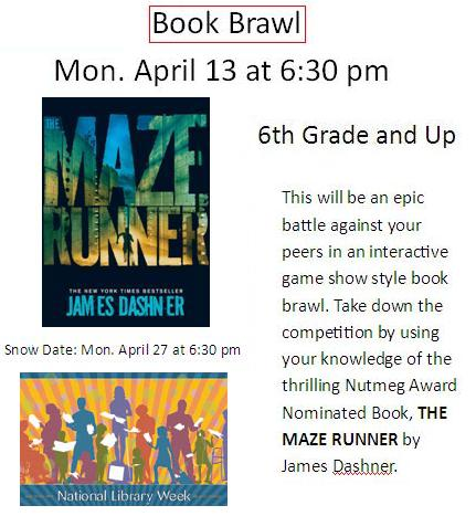 Book Brawl - Maze Runner 2015 - National Library Week