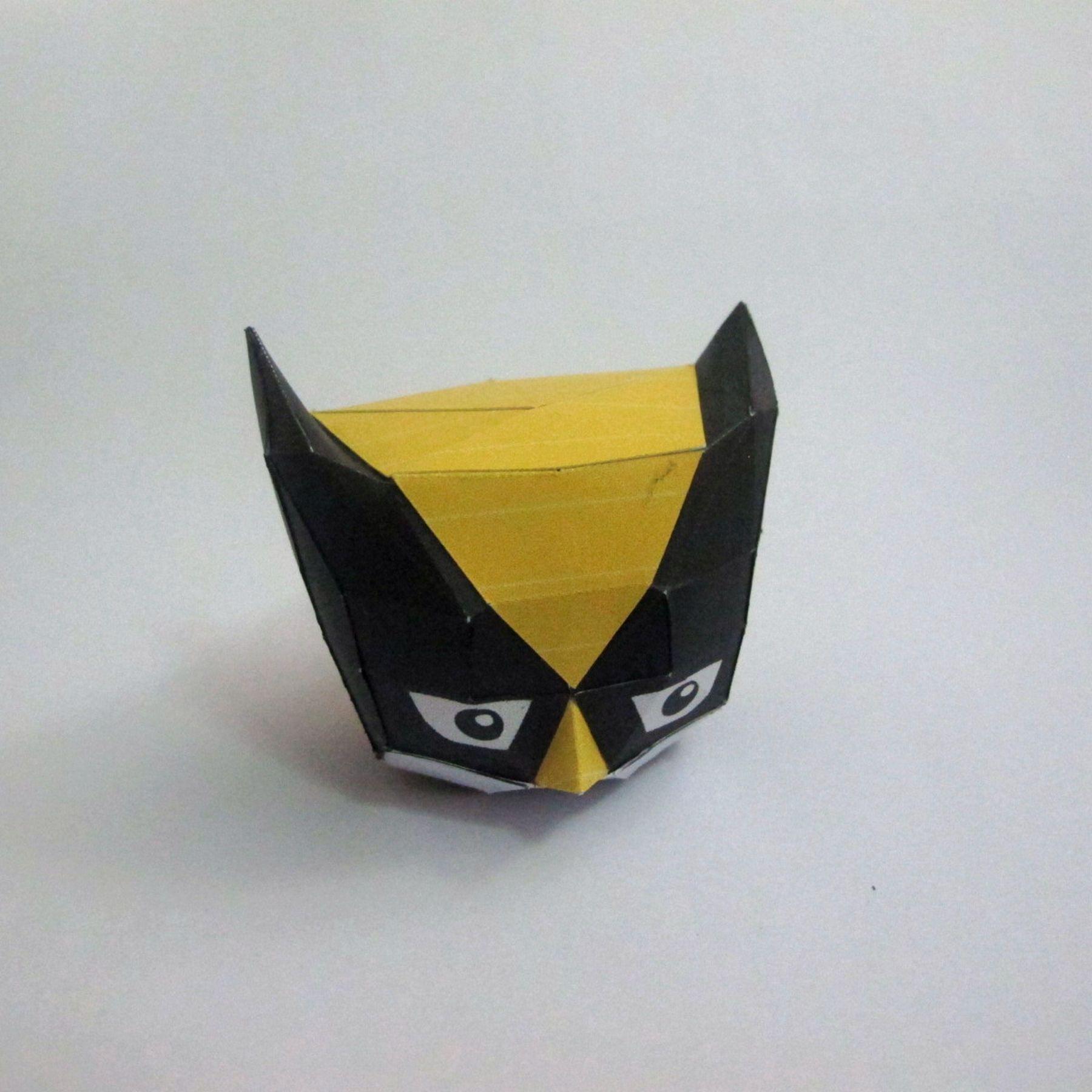 วิธีทำของเล่นโมเดลกระดาษ วูฟเวอรีน (Chibi Wolverine Papercraft Model) 022