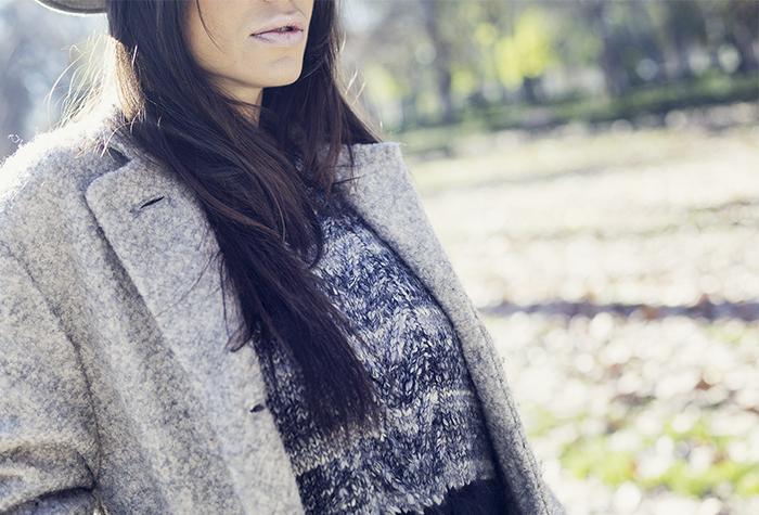 street style barbara crespo grey pepe jeans red boots fashion blogger outfit blog de moda