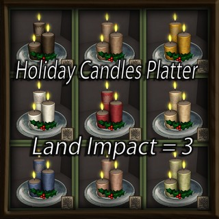 Holiday Candles Platter fab free gacha