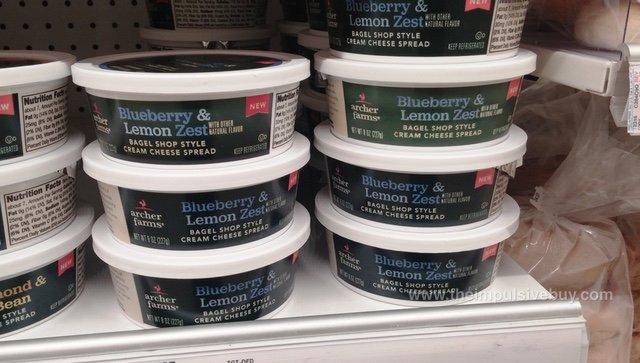 Archer Farms Blueberry & Lemon Zest Bagel Shop Style Cream Cheese Spread