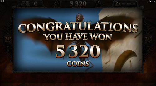 Game of Thrones - 243 Ways Targaryen Free Spins Win
